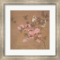 Framed Cherry Blossoms and Wild Roses