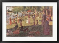 Framed Study for 'Sunday on La Grande Jatte'