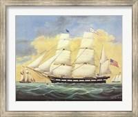 Framed Ship St. Mary's Entering Harbor At Mobile