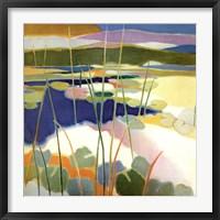 Framed Lily Pond in Summer