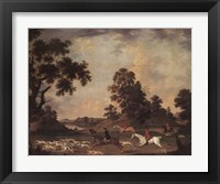 Framed Fox Hunting in Full Cry