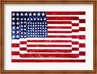 Framed Three Flags