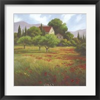Framed Olives & Poppies