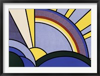 Framed Modern Painting of Sun Rays