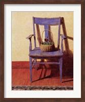 Framed Blue Chair