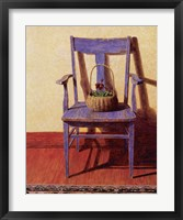 Framed Blue Chair