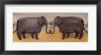 Framed Elephants in Love