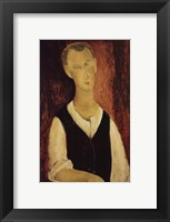 Framed Young Man with a Black Waistcoat, 1912
