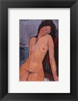 Framed Seated Nude, ca. 1917
