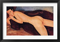 Framed Reclining Nude from the Back, c.1917
