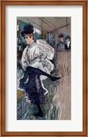 Framed Jane Avril Dancing