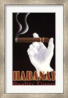 Framed Habanas Quality Cigars