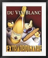 Framed Du Vin Blanc Extraordinaire