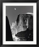 Framed Moon And Half Dome