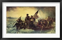 Framed Washington Crossing the Delaware, c.1851