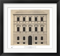 Framed Elevation House of Michelangelo