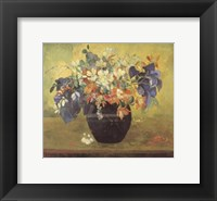 Framed Vase of Flowers, 1896