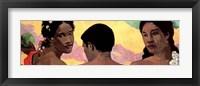 Framed Three Tahitians - Detail