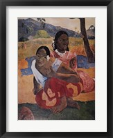 Framed Nafea Faaipoipo (When are You Getting Married), c.1892