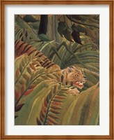 Framed Detail from 'Tiger in a Tropical Storm (Surprised!), 1891'