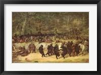 Framed Bear Dance, c.1870