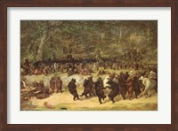 Framed Bear Dance, c.1870