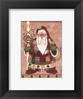 Framed Patchwork Santa