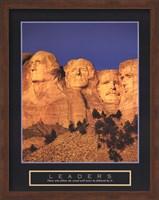 Framed Leaders - Mount Rushmore
