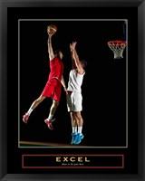 Framed Excel - Basketball