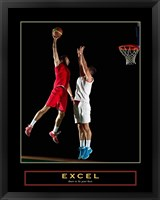 Excel - Basketball Framed Print