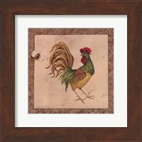 Framed Farmyard Bird II
