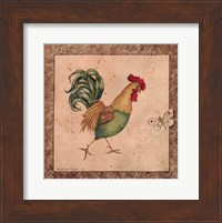 Framed Farmyard Bird I