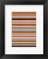 Framed Terracotta Stripes
