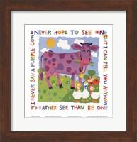 Framed Purple Cow