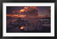 Framed Tufas in Mono Lake, California