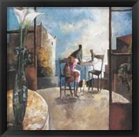 Framed Lirios y Balcon