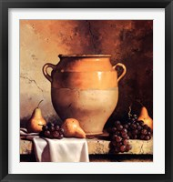 Confit Jar with Pears & Grapes Framed Print