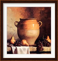 Framed Confit Jar with Pears & Grapes