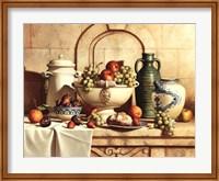 Framed Italian Still Life with Green Grapes