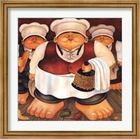 Framed Three Chefs