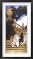 Framed Florentine Fete - A Stairway to Summer, 1912