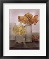 Framed Frosted Glass Vases IV