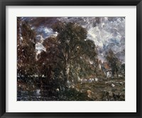Framed John Constable - On the River Stour