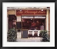 Framed Restaurant Au Beaujolais