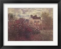 Framed Artist's Garden in Argenteuil (A Corner of the Garden with Dahlias), c.1873