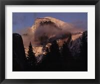 Framed Half Dome, Winter Sunset, Yosemite