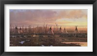 Framed Blackfeet Camp