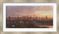 Framed Blackfeet Camp