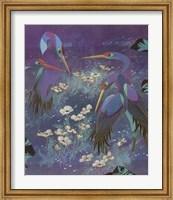 Framed Cranes in Paradise I