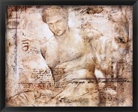 Achelous (metallic ink) Framed Print